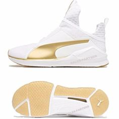 PUMA FIERCE GOLD WHITE KYLIE JENNER TRAINING SHOES 189192 01  150 Kylie  Jenner Puma Shoes 9c279da3b