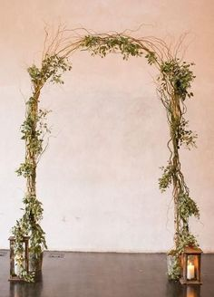 Birch Pole & Curly Willow Wedding Arch