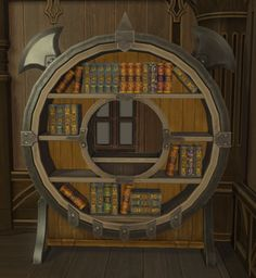 Ahriman Bookshelf: A wide-eyed and winged bookshelf designed in an ahriman motif. Comes complete with a compendium of knowledge from distant shrines. | Level: 35 Blacksmith