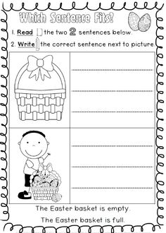 first grade easter worksheets Free Easter Worksheets For