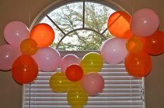 Flower balloon decorations