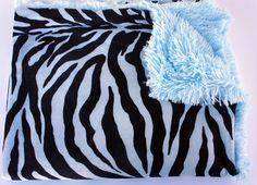 Hey, I found this really awesome Etsy listing at http://www.etsy.com/listing/115965815/on-sale-minky-fur-baby-blue-zebra