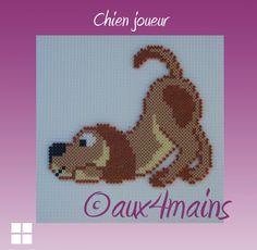 Dog hama perler by aux4mains