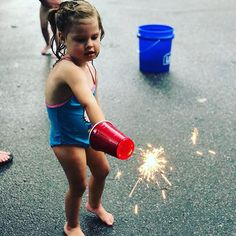 Leftover sparklers? Stab those puppies into a solo cup and keep their little hands safe! #july4th #july5th #sparklers #lifehack #momhack #pinterestwin