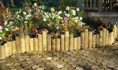 wood garden floor and fence