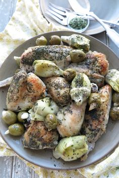 The combination of artichokes, green olives, and garlic infuse a fragrant and mouthwatering flavor to this simple dish, reminiscent of Mediterranean cuisine.
