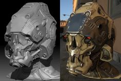 Mech helmet 100% ZBrush sculpt (plus game res real time renders!) - Page 2