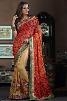 Red Designer Party Wear Sarees Online From Easysarees.
