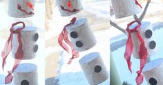 Indoor snowman craft by Hands On As We Grow!
