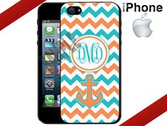 iPhone 4 Case  Teal and Orange Chevron by CrazianDesigns on Etsy, $15.99