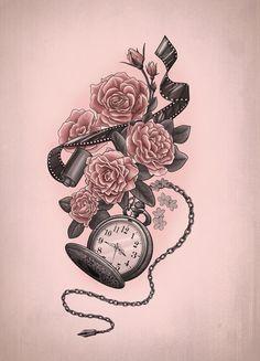 relógio de bolso tattoo - Pesquisa Google
