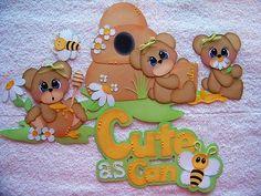 Lori Girl Cute as Can Bee Paper Piecing Premade Scrapbook Tear Bear Iopg | eBay