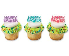 Happy Easter DecoPics® Cupcake Picks
