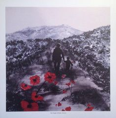 My Knight In Body Armour from the War Poppy Collection No.6 by Jacqueline Hurley. Professional quality print in remembrance of Our Heroes by PortOutStarboardHome on Etsy