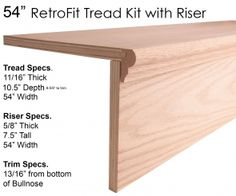 "54"" RetroFit Tread Kit with Riser"