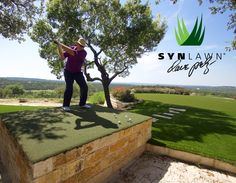Dave Pelz doesn't just endorse SYNLawn, he uses it to practice on and teach on. We think that speaks for itself.