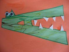 Alphabet Crafts - Letter A Alligator Alphabet Crafts, Letter A Crafts, Alphabet Activities, Preschool Activities, Abc Crafts, Kindergarten Literacy, Alphabet Letters, Letter Art, Preschool Alphabet