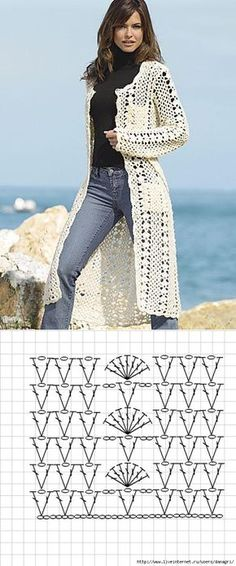 Receitas de crochê e amigurumi grátis Seersucker Stitch Knitting Pattern - Watch how to knit all 8 easy rows! The Seersucker Stitch Knitting Pattern looks like a complex rais - . Gilet Crochet, Crochet Dishcloths, Crochet Jacket, Crochet Poncho, Crochet Cardigan, Crochet Sweaters, Doilies Crochet, Freeform Crochet, Mode Crochet
