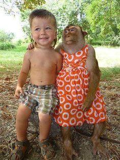 Friends #kids #Animals in clothes
