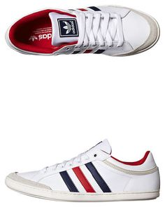 ADIDAS ORIGINALS PLIMCANA LOW SHOE - RUNNING WHITE NAVY UNIVERSITY RED Adidas Originals, Adidas Sneakers, Running, Red, Shoes, Products, Fashion, Moda, Zapatos