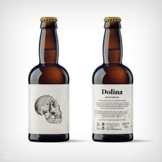 Designed by Moruba, Dolina is a craft beer inspired by the Atapuerca archaeological deposits. Beer Packaging, Food Packaging Design, Branding Design, Beverage Packaging, Packaging Ideas, Beer Images, Craft Beer Labels, Wine Labels, Beer Label Design