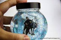 My son loves Sven from FROZEN the movie - we captured the fun in an easy snow globe craft. #FrozenFun #shop #cbias