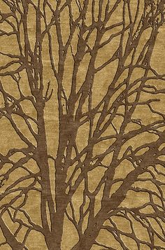 CO2 Rug by Rick Lee. CO2 - A subtle yet graphically impactful tree branch pattern. Hand knotted in Nepal. Discover more at www.BespokeGlobal.com