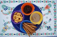 """Gone Fishing Snack Idea - Dip Pretzel in PB then go """"fishing"""" for goldfish or mini chocolate chips."""