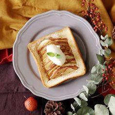 ぎっしりリンゴのアップルパイ風トースト