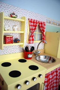 Vintage style play kitchen by Ikea Hackers