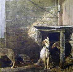 RACOON  by Andrew Wyeth Such a sad story behind this painting...