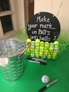 Golf party ideas to help turn your picnic, party, or maybe your even though celebration in a golf-lovers delight. If you and your friends love golf, and then any excuse is a great excuse for any good Golf Centerpieces, Golf Party Decorations, Table Decorations, 70th Birthday Parties, Retirement Parties, Birthday Gifts, Golf Birthday Party Ideas, Golf Party Games, Golf Party Foods