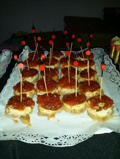 Mini cheese cake de beicon