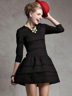 Striped Ruffle Slim Dress