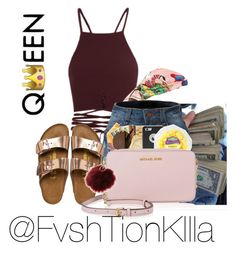 A fashion look from April 2017 featuring brown shirts, white top and Browse and shop related looks. Date Outfit Casual, Date Outfits, Dressy Outfits, Girly Outfits, Summer Outfits, Birkenstock Fashion, Diy Fashion, Fashion Outfits, Black Girl Swag