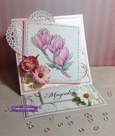 Easel card made usin