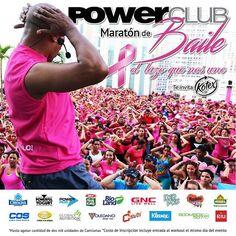 Desde hoy te puedes inscribir en la Mejor #MaratonDeBaile de #Panamá @powerclubpanama  sábado 3 de octubre hotel Riu  con un WorkOut desde las 8 am GRATIS #CualEsTuExcusa #YoBailoEnPowerClub  a beneficio de @fundacancer
