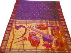 Yeola Paithani Sarees, Brocket Paithani, Banarasi Silk Paithan, Special Padar Paithani Saris