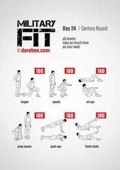 Military Fit Plus: Fitness Program Fitness Workouts, Gym Workout Tips, Easy Workouts, Workout Challenge, At Home Workouts, Fitness Tips, Workout Schedule, Workout Plans, Army Workout