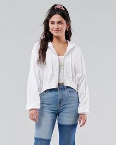 Girls Staycation Mode Sets | Hollister Co. Basic Tees, Going Out Tops, Full Zip Hoodie, Hoodies, Sweatshirts, Hollister, Lounge Wear, Bell Sleeve Top, Clothes