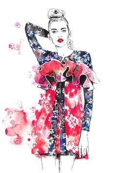 Fashion illustration, part 8. on Behance