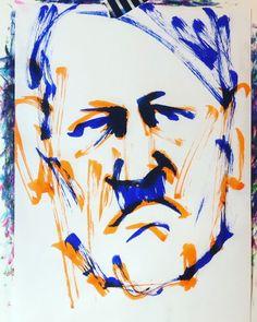 "torao fujimoto on Instagram: ""#adolfhilter #アドルフヒトラー #dictator #独裁者 #nazis #ナチス #meinkampf #我が闘争 #18890420 #birthday #誕生日 #1minut #1分 #1mindraw  #一分描画 #portrait #似顔絵…"" Abstract, Artwork, Instagram, Summary, Work Of Art, Auguste Rodin Artwork, Artworks, Illustrators"