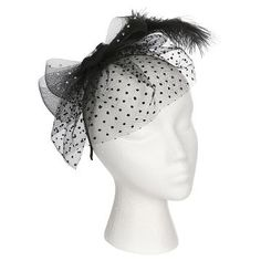 Women s Headband Fascinator with Feather Accents - Black a4dcdab679d