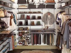 A walk-in closet that is perfectly personalized to your specific needs has amazing potential to wow, especially since you can put all of your favorite belongings on display. This deluxe closet has a place for scarves, shoes, bags and even perfume. Photo courtesy of The Container Store