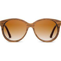 Shwood Madison Shwood Original Wood Sunglasses ($189) ❤ liked on Polyvore featuring accessories, eyewear, sunglasses, glasses, occhiali, oval sunglasses, wood glasses, round sunglasses, wooden sunglasses and heart shaped glasses