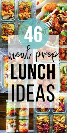 These 46 easy lunch meal prep ideas prove that eating healthy can be delicious and is anything but boring! A little prep work on the weekend will set you up to eat healthier, save money, and reduce your stress through the week. Easy Meal Prep Lunches, Meal Prep Bowls, Healthy Meal Prep, Eating Healthy, Cold Lunches, Keto Meal, Healthy Foods, Best Lunch Recipes, Diet Recipes