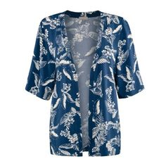 Maya Tropical Print Kimono