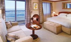 Check out these gorgeous state rooms from Crystal Cruises!