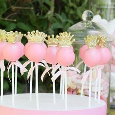 Princess cake pops - Remind me of Little Miss Molly.