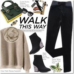 Walk This Way by oshint on Polyvore featuring moda, Versace, John Lewis and Le Specs